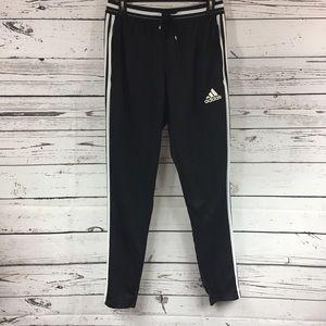 Adidas Mens Black Warm Up Pants 3 Stripe Medium